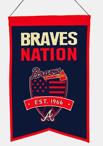 Atlanta Braves Banner Wool Nations