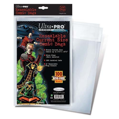 Comic Bag - Current Size - Resealable (100 pk)