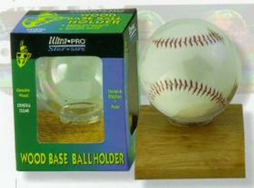 Baseball Holder - Wood Base