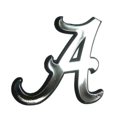 Alabama Crimson Tide Auto Emblem - Silver