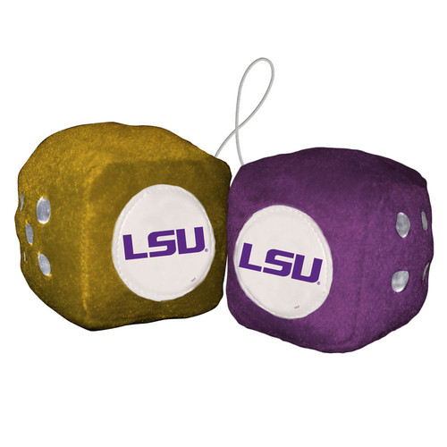 LSU Tigers Fuzzy Dice