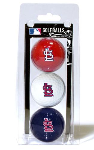 St. Louis Cardinals 3 Pack of Golf Balls