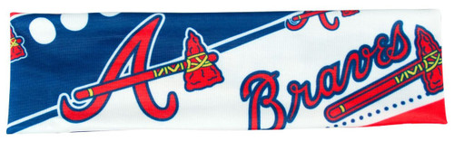 Atlanta Braves Stretch Patterned Headband