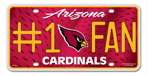 Arizona Cardinals License Plate - #1 Fan