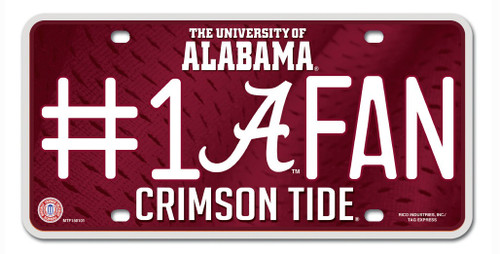 Alabama Crimson Tide License Plate - #1 Fan