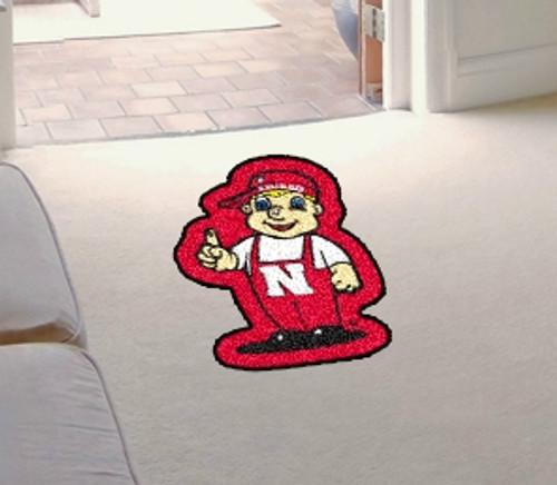 Nebraska Cornhuskers Area Rug - Mascot Style