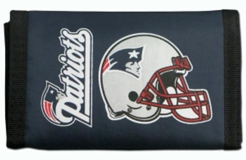 New England Patriots Nylon Trifold Wallet