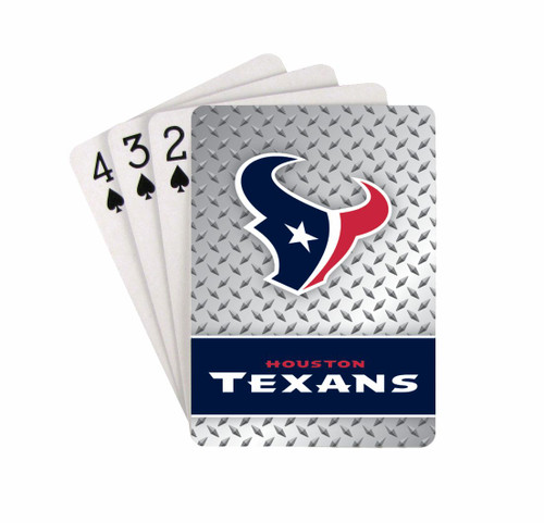 Houston Texans Playing Cards - Diamond Plate