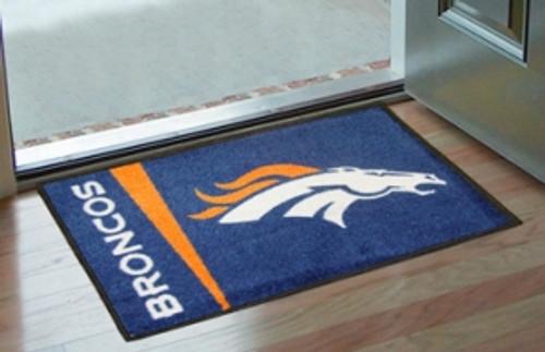 Denver Broncos Rug - Starter Style, Logo Design