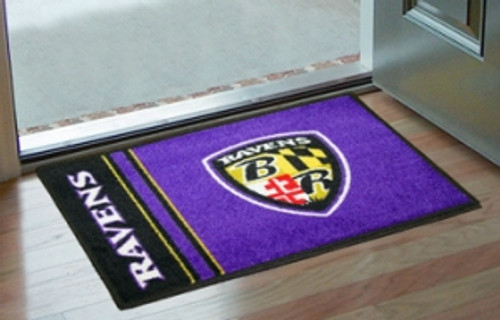 Baltimore Ravens Rug - Starter Style, Logo Design