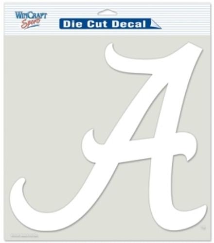 Alabama Crimson Tide Decal 8x8 Die Cut White