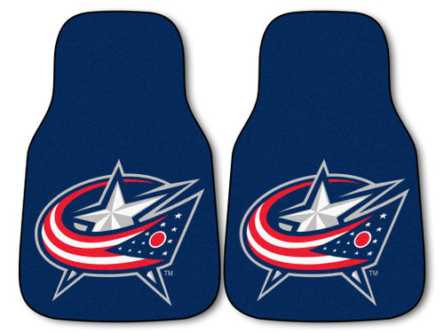 Columbus Blue Jackets Car Mats Printed Carpet 2 Piece Set