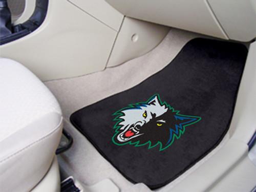 Minnesota Timberwolves Car Mats Printed Carpet 2 Piece Set