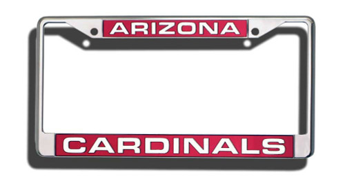 Arizona Cardinals Laser Cut Chrome License Plate Frame