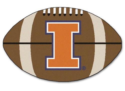 Illinois Fighting Illini Football Mat 22x35