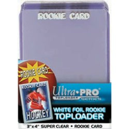 """Top Loader - 3""""x4"""" White Rookie (25 per pack)"""