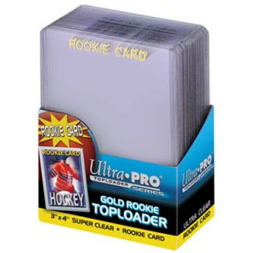 """Top Loader - 3""""x4"""" Gold Rookie (25 per pack)"""