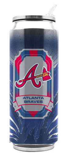 Atlanta Braves Stainless Steel Thermo Can - 16.9 ounces