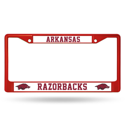 Arkansas Razorbacks Metal License Plate Frame - Red