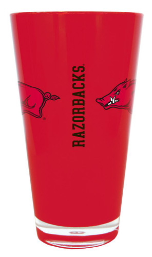 Arkansas Razorbacks 20 oz Insulated Plastic Pint Glass