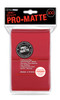 Deck Protectors - Pro-Matte Red (100 per pack)