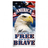 """America Beach Towel - 30""""x60"""" - Land of the Free Home of the Brave"""