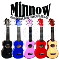 Eddy Finn Minnow Travel Size Soprano Ukulele with Gig Bag