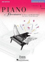 Piano Adventures Level 1 - Lesson Book, by  Nancy Faber Randall Faber for Piano, Publisher  Faber Piano Adventures