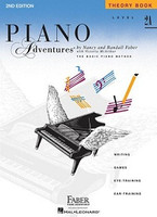 Piano Adventures Level 2A - Theory Book 2nd Edition, by Nancy Faber Randall Faber for Piano, Publisher  Faber Piano Adventures
