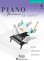 Piano Adventures Level 3B - Theory Book, by  Nancy Faber Randall Faber for Piano, Publisher  Faber Piano Adventures