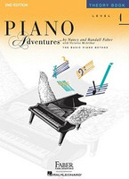 Piano Adventures Level 4 - Theory Book, by  Nancy Faber Randall Faber for Piano, Publisher  Faber Piano Adventures