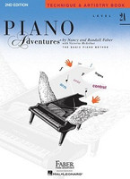 Piano Adventures Level 2A - Technique & Artistry Book, by Nancy Faber Randall Faber for Piano, Publisher  Faber Piano Adventures