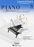 Piano Adventures All-In-Two Level 2A Lesson & Theory Book, by Nancy Faber Randall Faber for Piano, Publisher  Faber Piano Adventures
