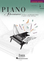 Piano Adventures Level 5 - Lesson Book, by  Nancy Faber Randall Faber for Piano, Publisher  Faber Piano Adventures