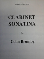 Clarinet Sonatina by Colin Brumby,70% off