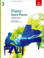 ABRSM, Grade 3 Piano Exam Pieces, Selected from the 2015 & 2016 Syllabus