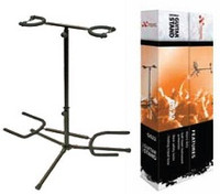 Double Guitar Stand - Heavy Duty, Suits All Guitars