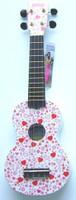Mahalo Art Series Soprano Ukulele - Pink Hearts