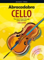 Abracadabra Cello 3rd Edition Book + 2CDs, for Cello&Performance & Play-Along CD, Author Maja Passchier, Publisher A & C Black, Series Abracadabra Strings