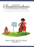Early Start on the Cello, Volume 1, by Egon Sassmannshaus, Kurt Sassmannshaus, for Cello, Series The Sassmannshaus Tradition, Publisher Barenreiter