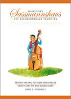 Early Start on the Double Bass, Volume 2, by Egon Sassmannshaus, J.Peter Close, for Double Bass, Series The Sassmannshaus Tradition, Publisher Barenreiter