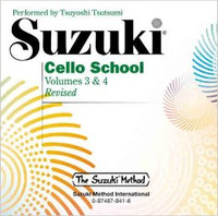 Suzuki Cello School CD, Volume 3 & 4 for Cello and Demonstration CD, Series of Suzuki Cello School, Publisher Summy Birchard, Artist Tsuyoshi Tsutsumi