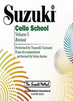 Suzuki Cello School CD, Volume 5 for Cello and Demonstration CD, Series of Suzuki Cello School, Publisher Summy Birchard, Artist Tsuyoshi Tsutsumi