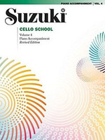 Suzuki Cello School Piano Acc., Volume 4 (Revised) for Cello and Piano, Series of Suzuki Cello School, Publisher Summy Birchard