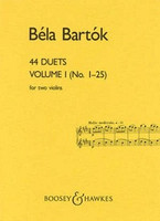 44 Duets BK 1, by Bela Bartok, for Violin, Publisher Boosey & Hawkes