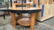 Maple Circular table with Metal Binding