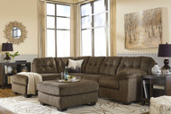 Accrington Earth Left Arm Facing Corner Chaise, Right Arm Facing Sofa Sectional & Accent Ottoman