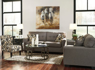 Tibbee Slate Sofa, Loveseat, Accent Chair & Frostine Table Set