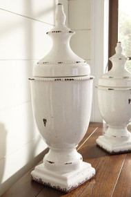 Devorit Antique Tall White Jar