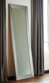 Duka Silver Finish Accent Mirror